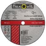 Flexovit 203x16 Metal Cut Off Wheel Fh38 1020316