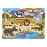 Melissa and Doug: Safari Peg Puzzle