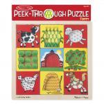 Melissa and Doug: Peek Through Puzzle Farm