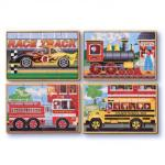 Melissa and Doug: Vehicles Puzzles in a Box