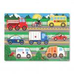 Melissa and Doug: Vehicles Peg Puzzle