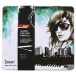 Jasart: Water Colour Pencil Design Tin - 24 Pack
